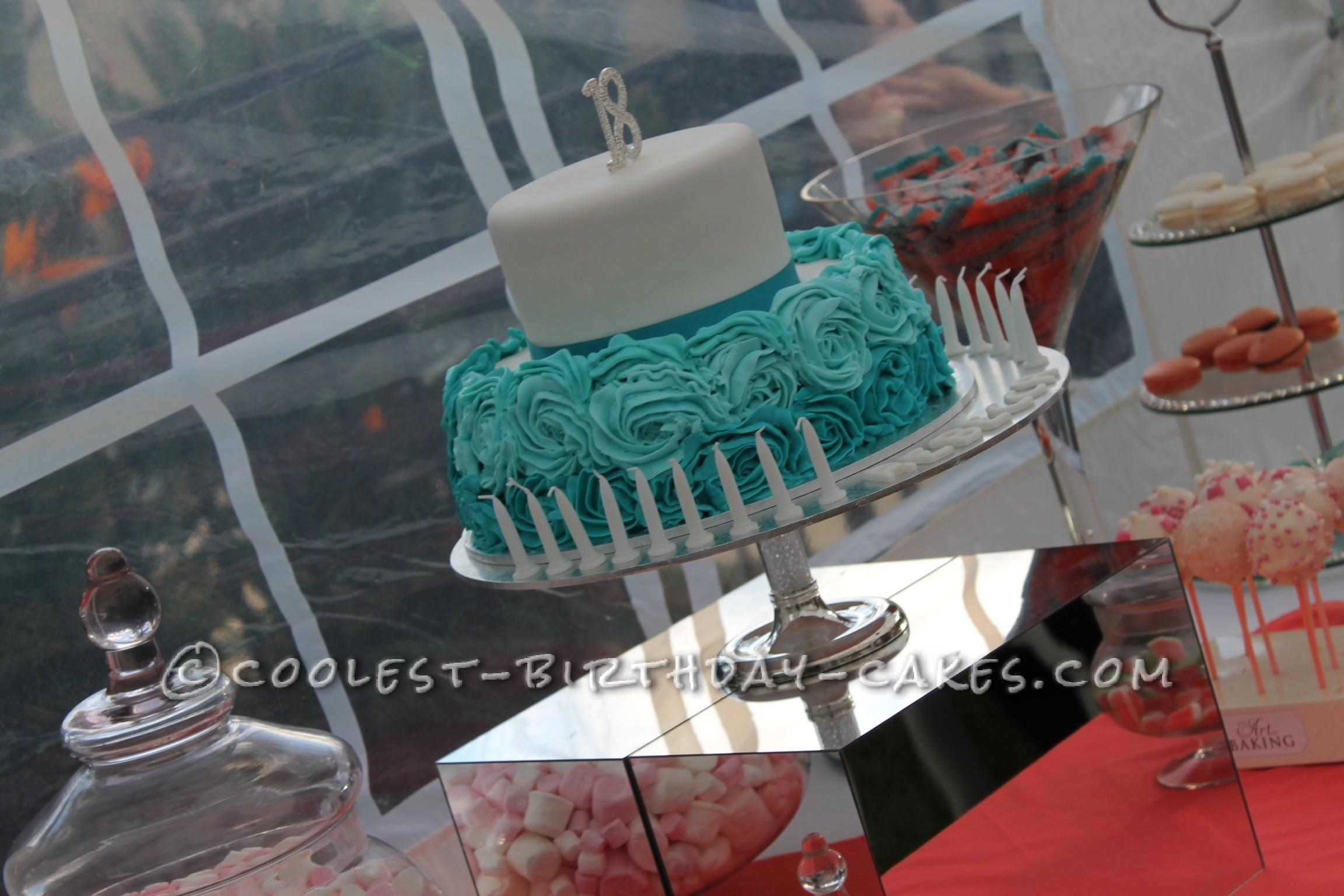 Coolest Flower 18th Birthday Cake