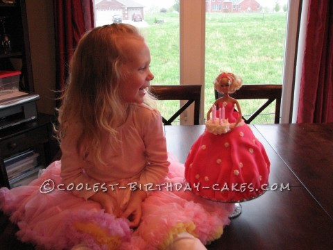 Surprise Barbie Cake for 4 Year Old