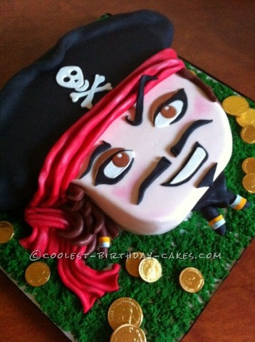 A choc-chilli Mexican Pirate Cake by The Pink Piper