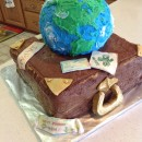 Around the World Travel Cake