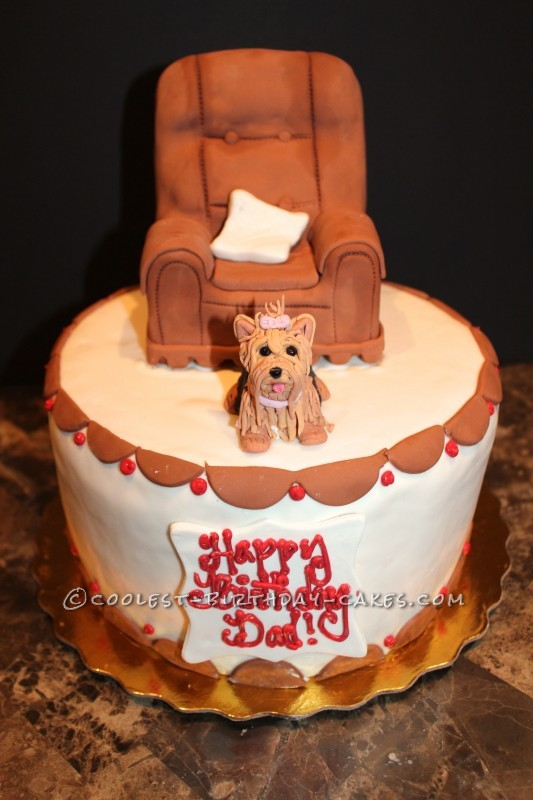 Dads Yorkie Birthday Cake