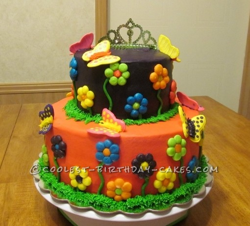 Coolest Butterfly Garden Cake