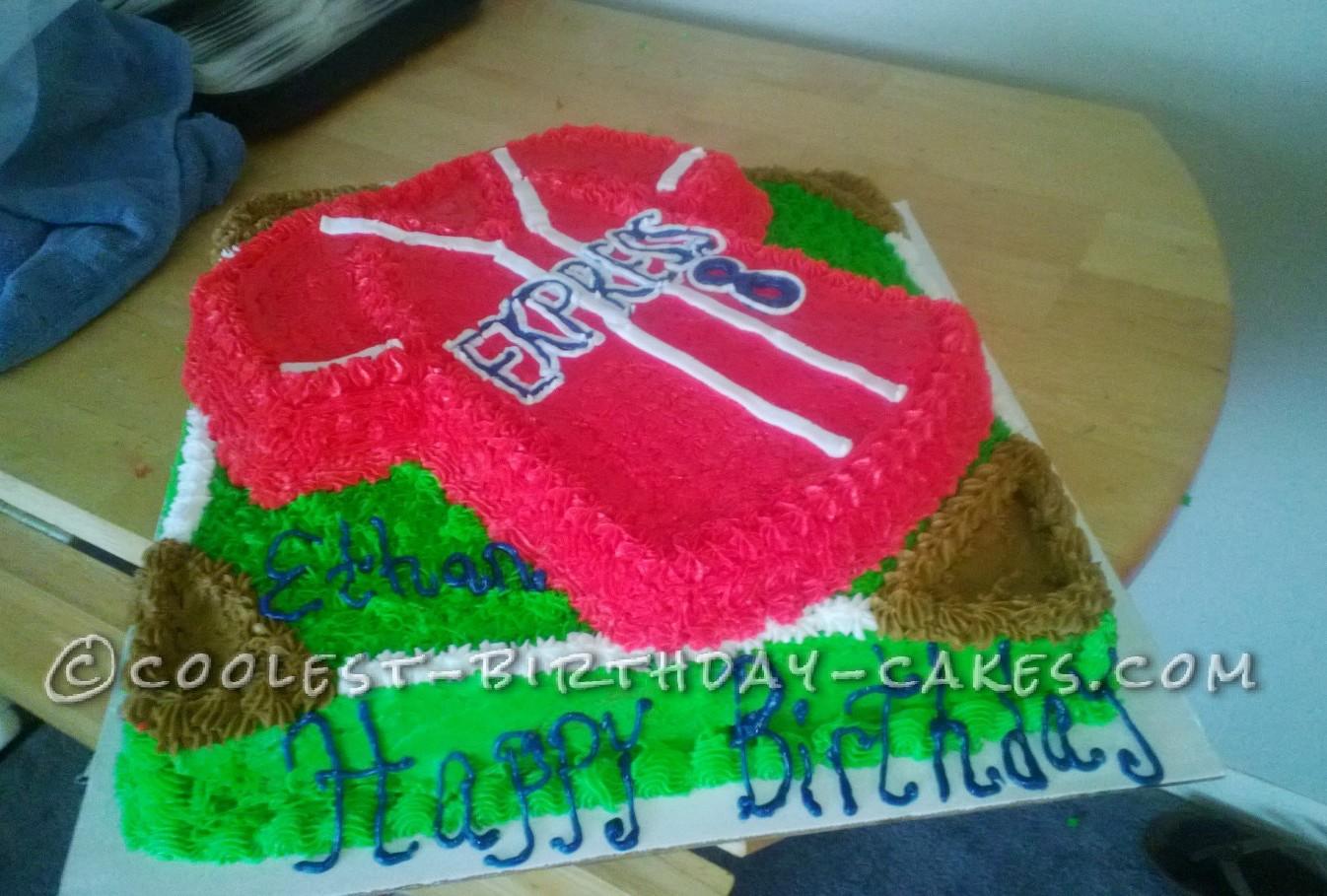 Coolest Baseball Jersey Birthday Cake