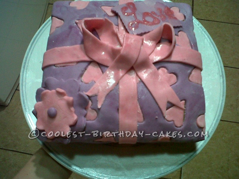 Coolest Gift Wrapped Birthday Cake