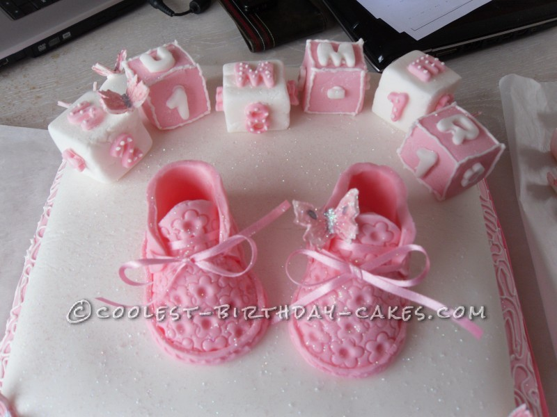 Coolest Booties Cake for Girls Christening