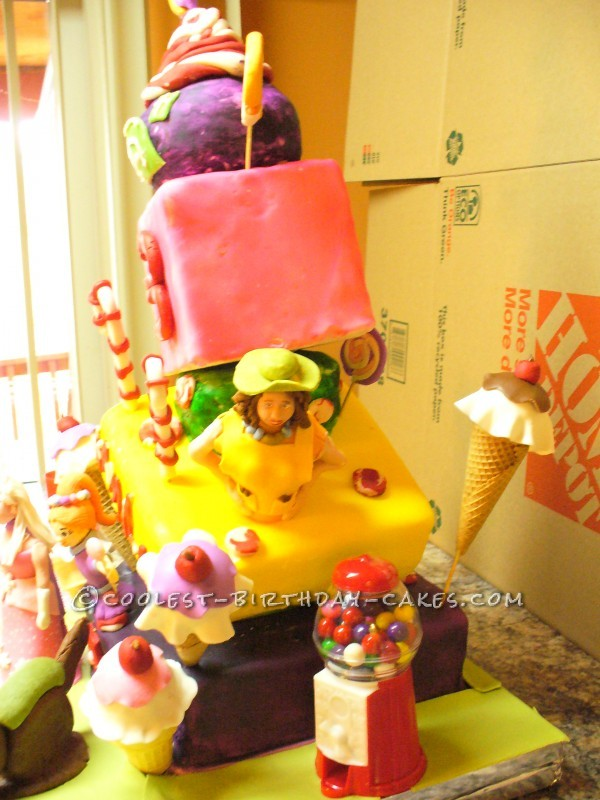 Coolest Candyland Topsy Turvy Cake