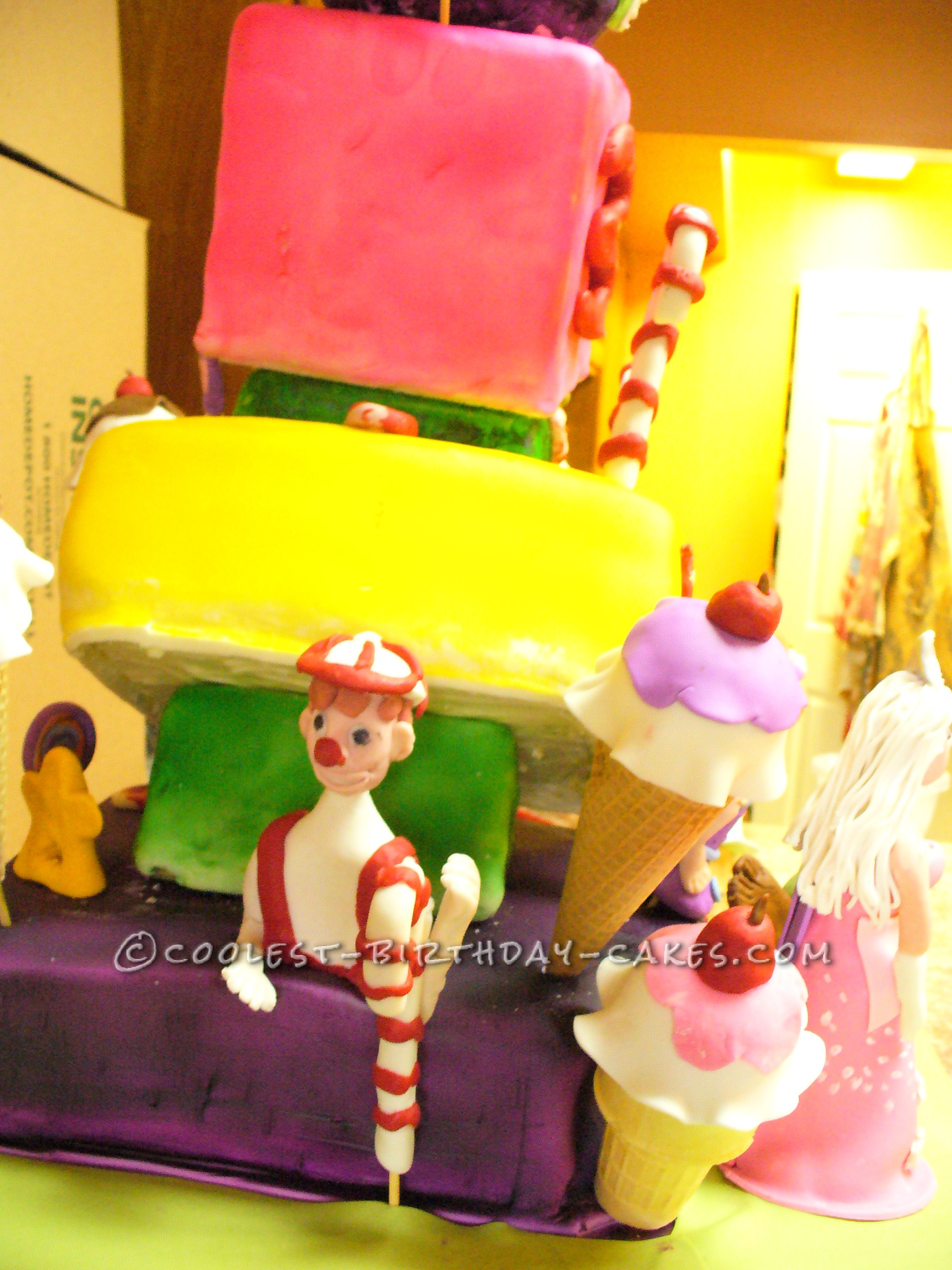 Coolest Candyland Topsy Turvy Cake