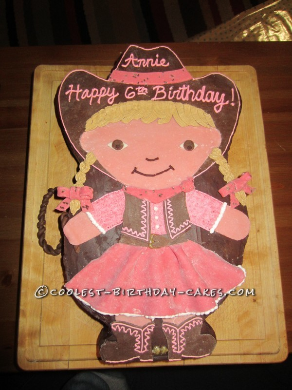 Fabulous Coolest Cowgirl Birthday Cake Personalised Birthday Cards Bromeletsinfo