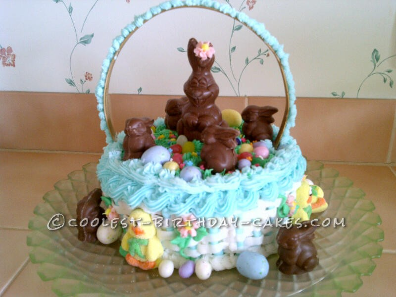 Coolest Easter Basket Cake