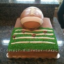 Coolest Football Field and Football Birthday Cake
