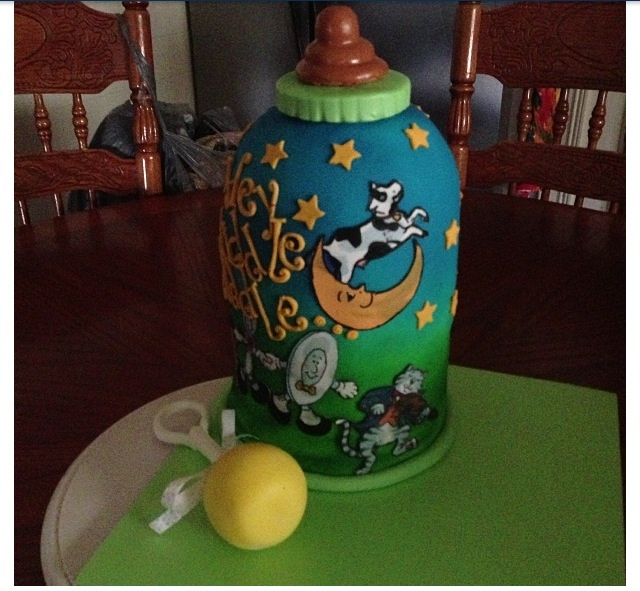Coolest Nursery Rhyme Baby Bottle Cake