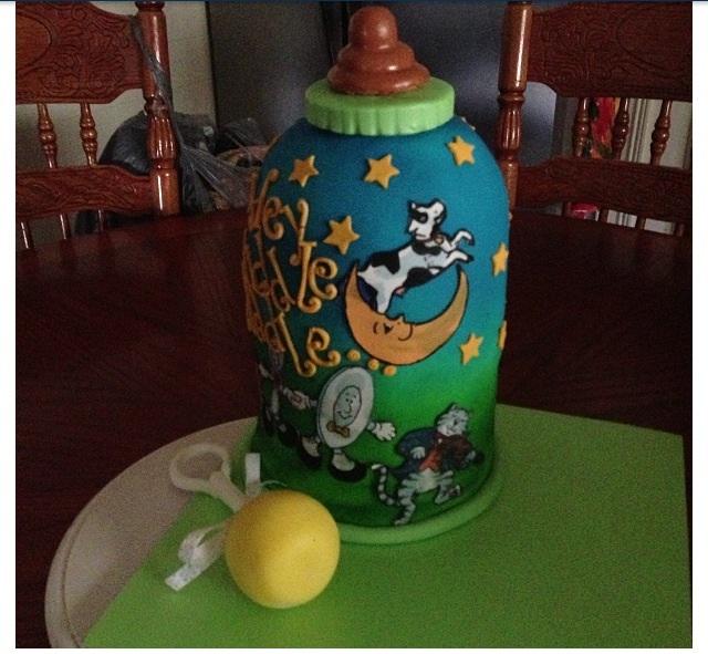Coolest Nursery Rhyme Baby Bottle Cake