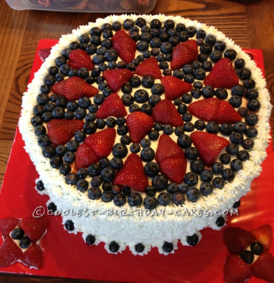 Coolest Patriotic Flag Cake