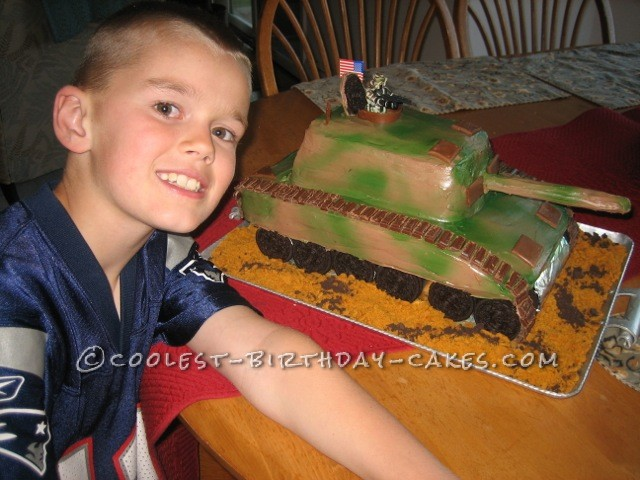 Coolest Tank Birthday Cake