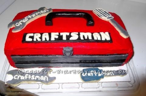 Craftsman Toolbox Cake for Handyman Dad