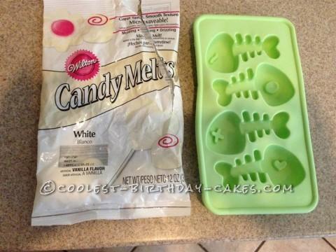 Fish Bone Ice Tray & Wilton Candy Melts