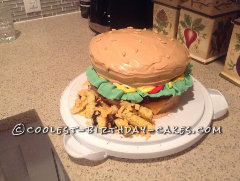 Easiest Fastest Homemade Birthday Hamburger Cake
