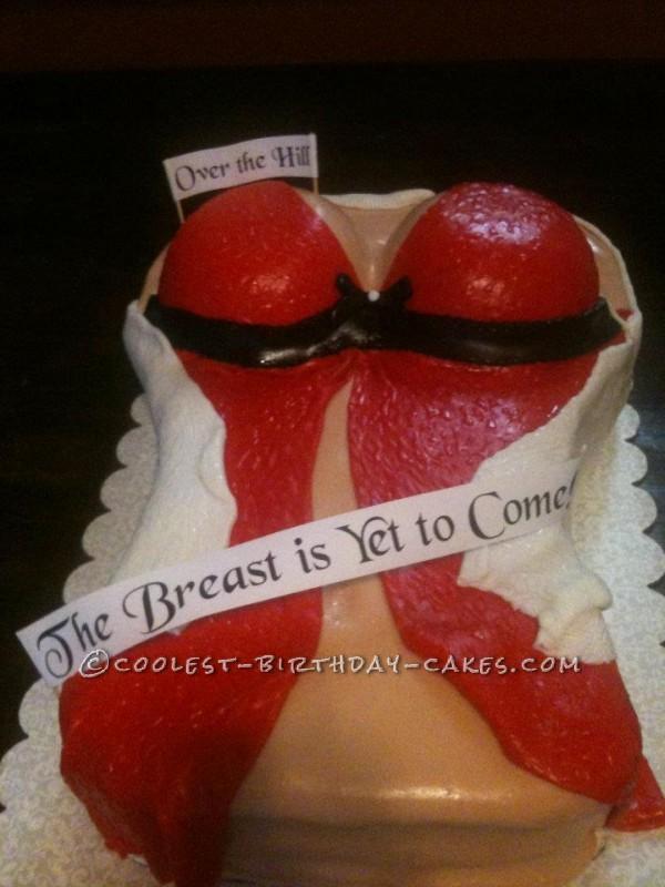 Easy Lingerie Boob Cake