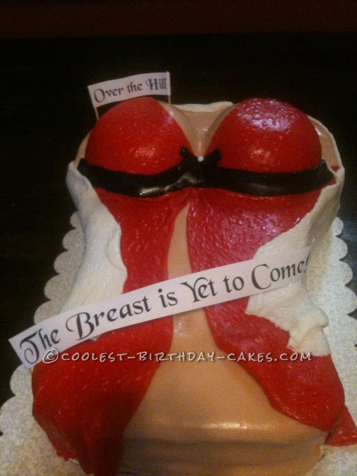 Excellent Easy Lingerie Boob Cake Personalised Birthday Cards Petedlily Jamesorg