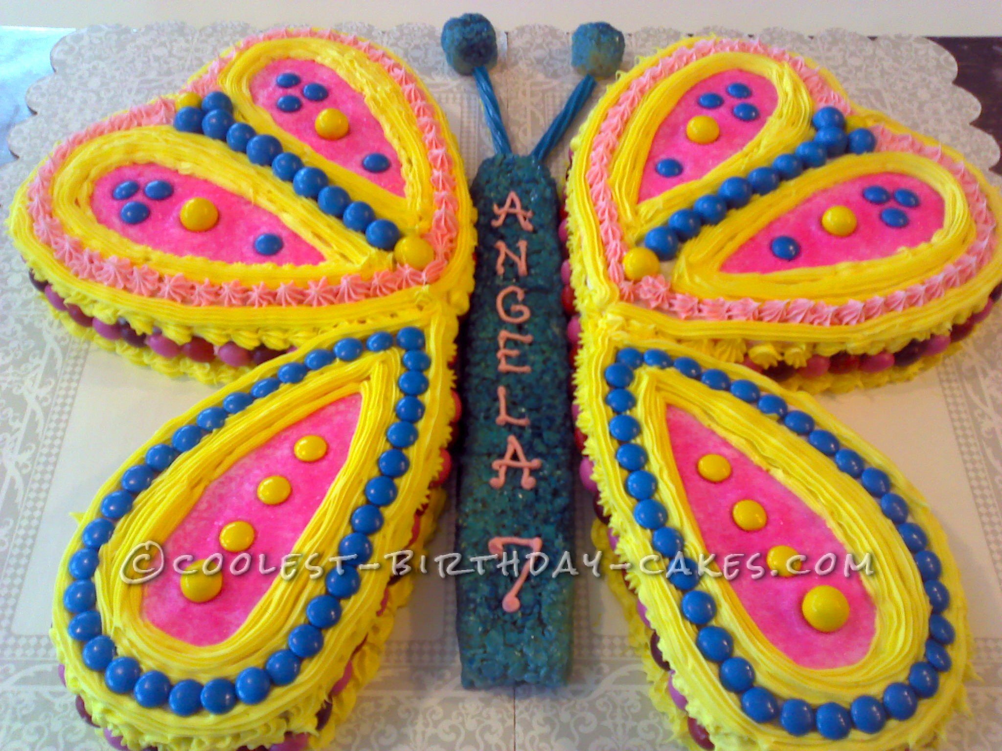 Easy But Fancy Looking Butterfly Birthday Cake