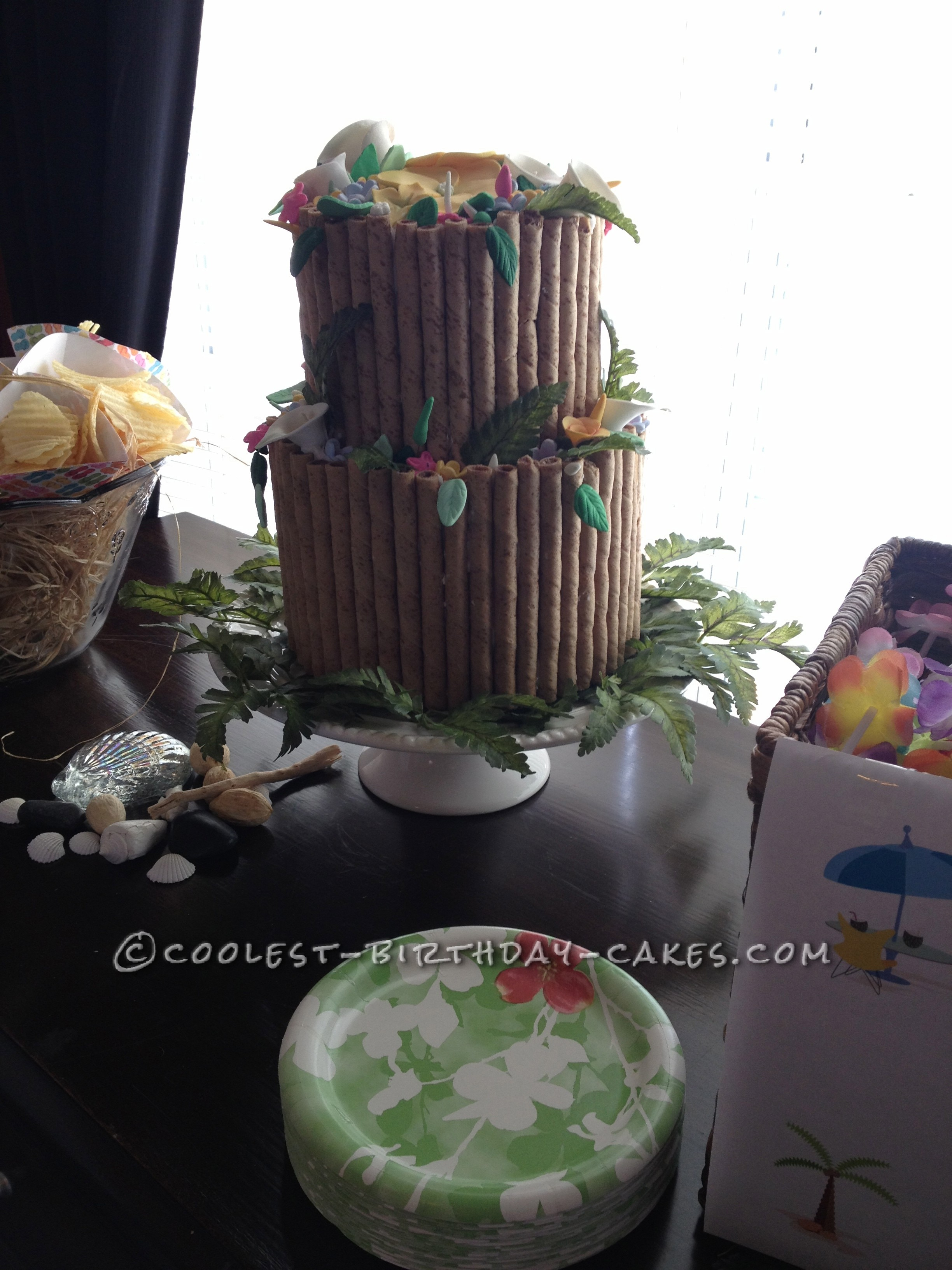 Coolest Luau Birthday Cake