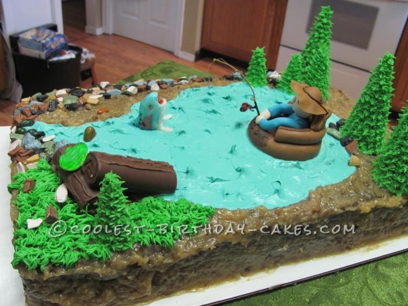Float Tube Fishing Cake