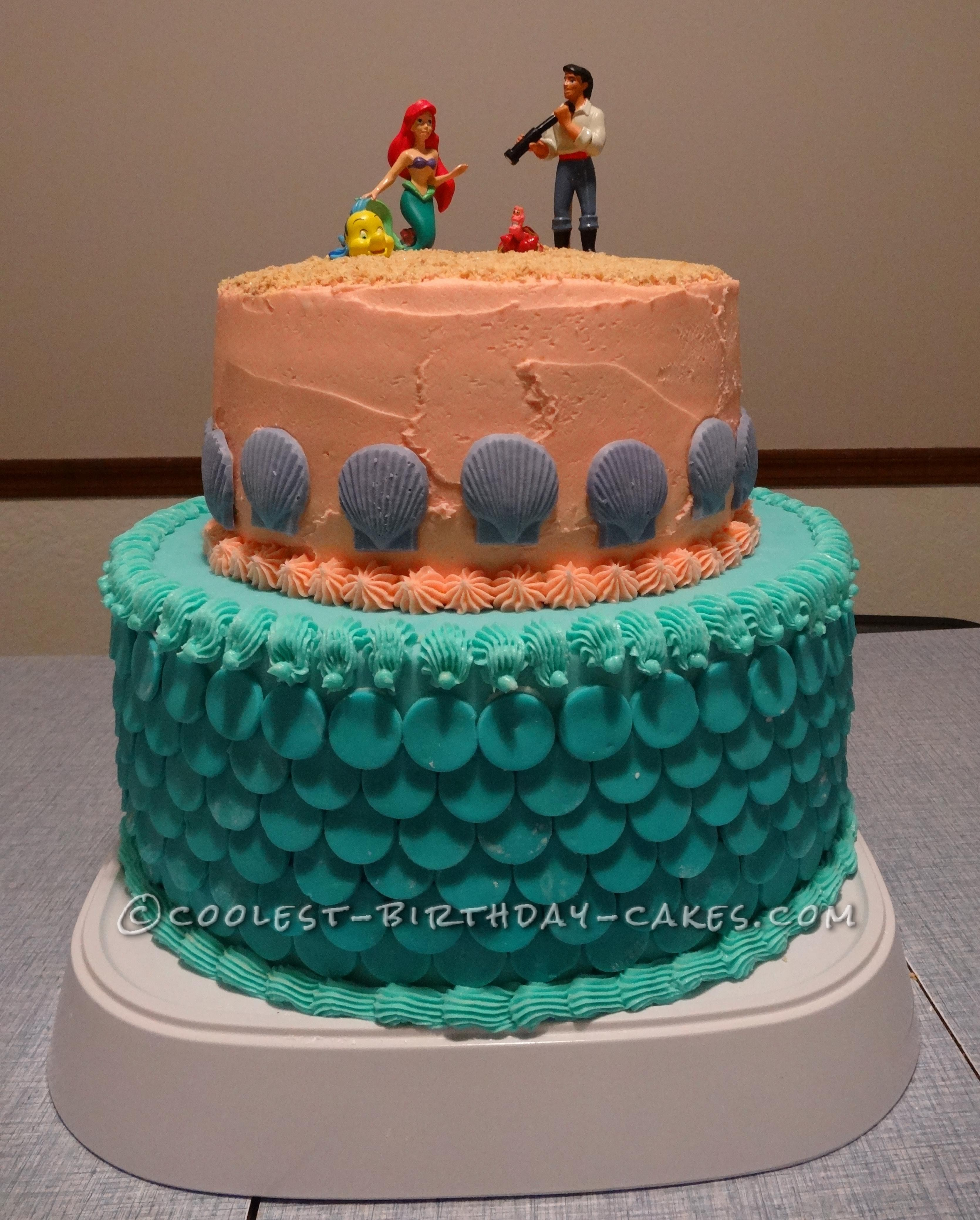 Fun Little Mermaid Cake