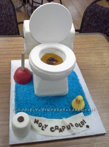 Toilet Bowl Cake