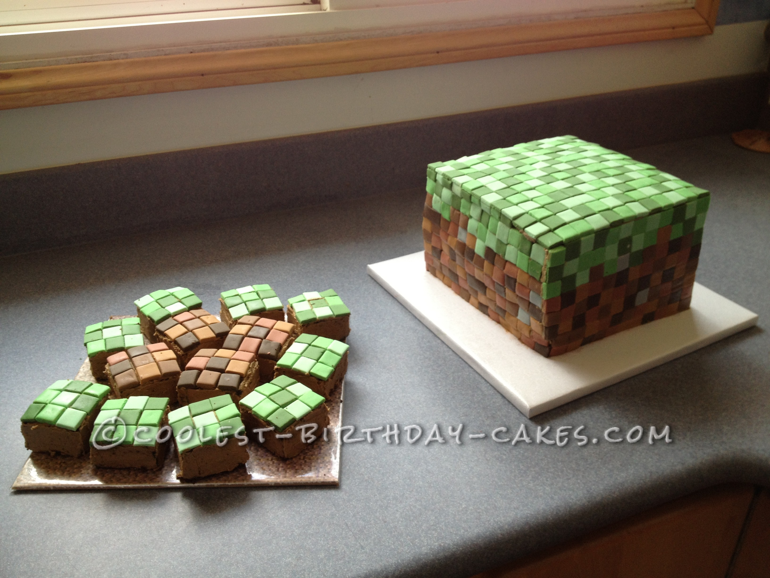 """Big cake with the small """"blocks"""""""