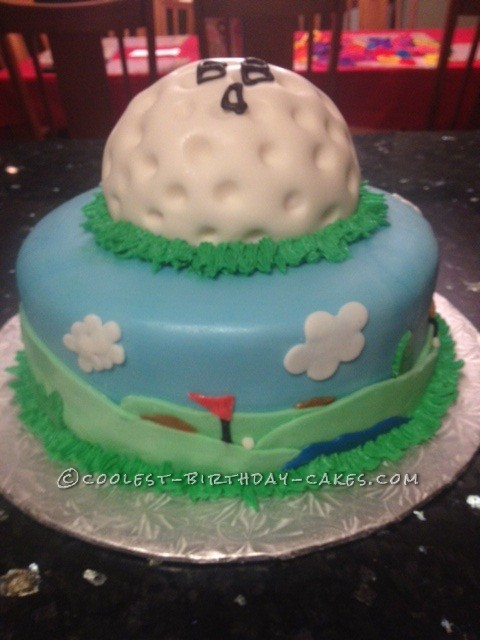 Coolest Golf Themed Cake