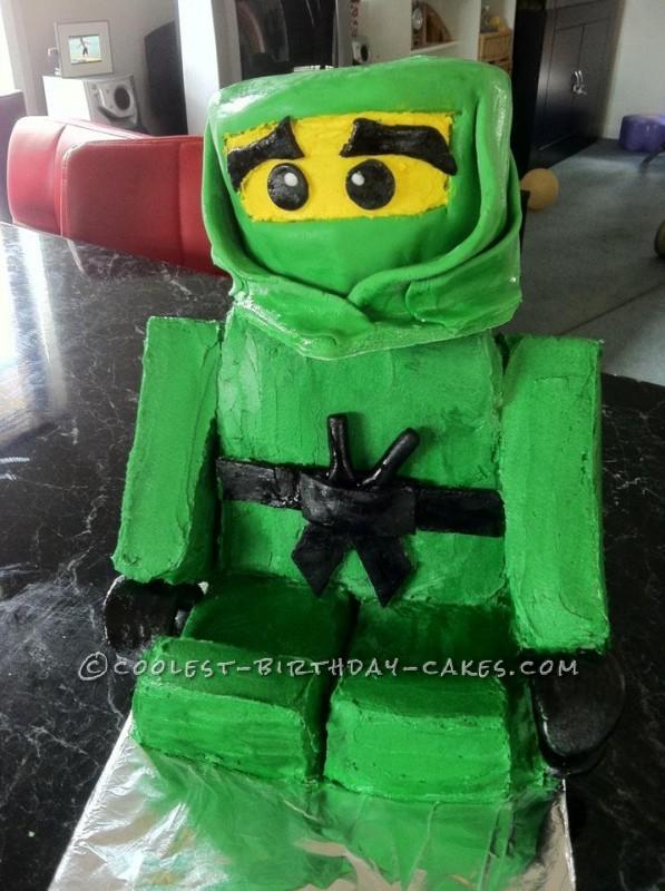 Green Ninjago Lego cake