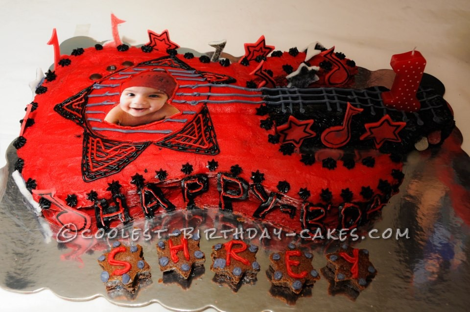 Guitar Cake for Rockstar Theme Party