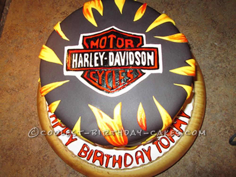 Awesome Harley Davidson Cake