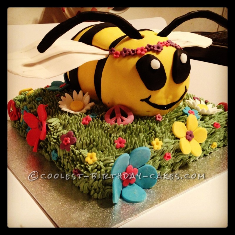 Hippy Bumblebee cake