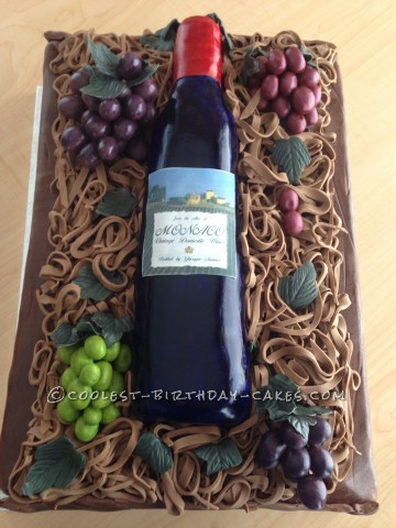 Italian Wine and Grapes Birthday Cake