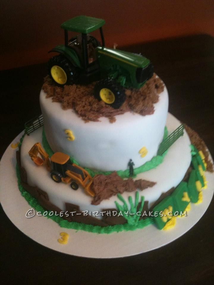 Surprising Coolest John Deere Birthday Cake Funny Birthday Cards Online Elaedamsfinfo