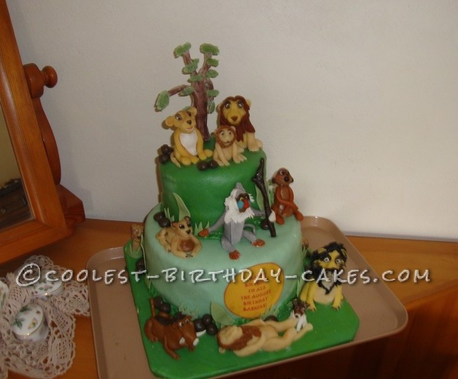 Cool Cool Homemade Lion King Birthday Cake Funny Birthday Cards Online Fluifree Goldxyz