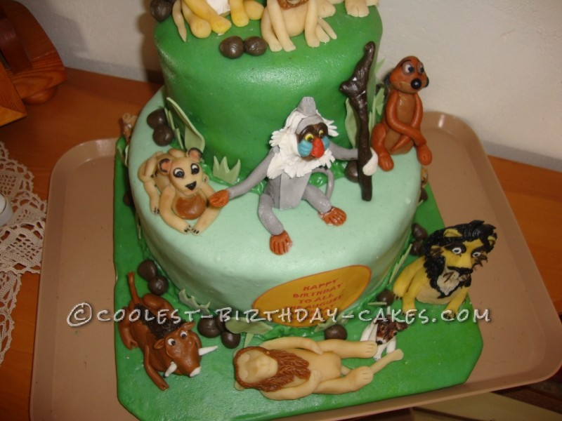 Cool Homemade Lion King Birthday Cake
