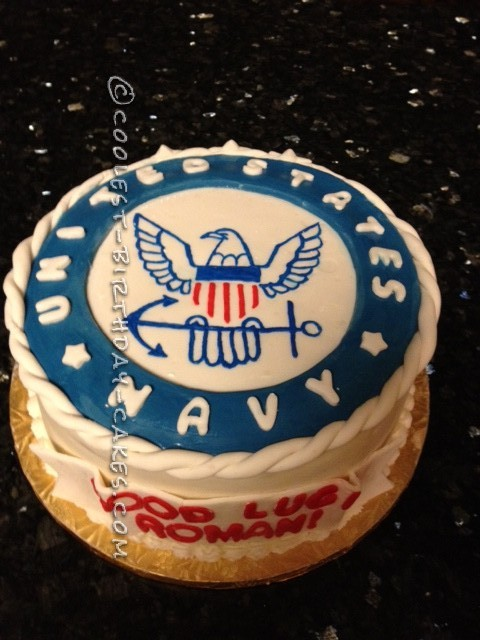Coolest Navy One Cake