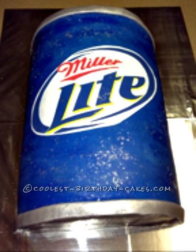 Miller Lite Beer Can Cake