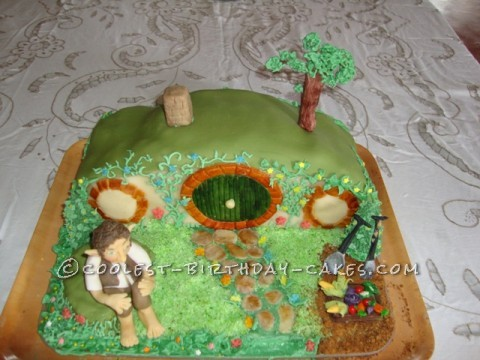 Coolest Hobbit Hole Birthday Cake