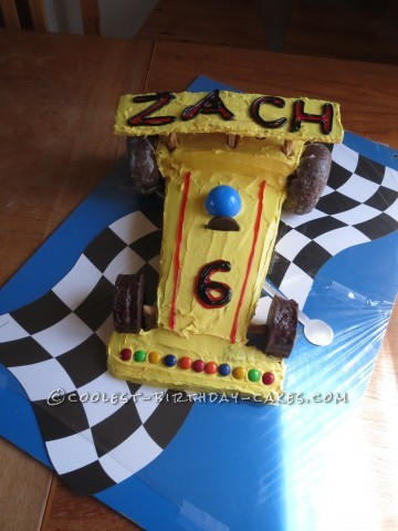 Not-A-Lot-Of-Thought Race Car Cake