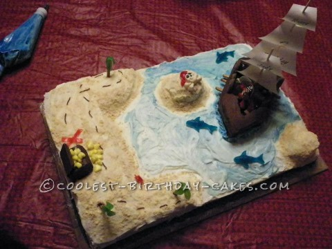 Pirate Birthday Party Pirate Cake