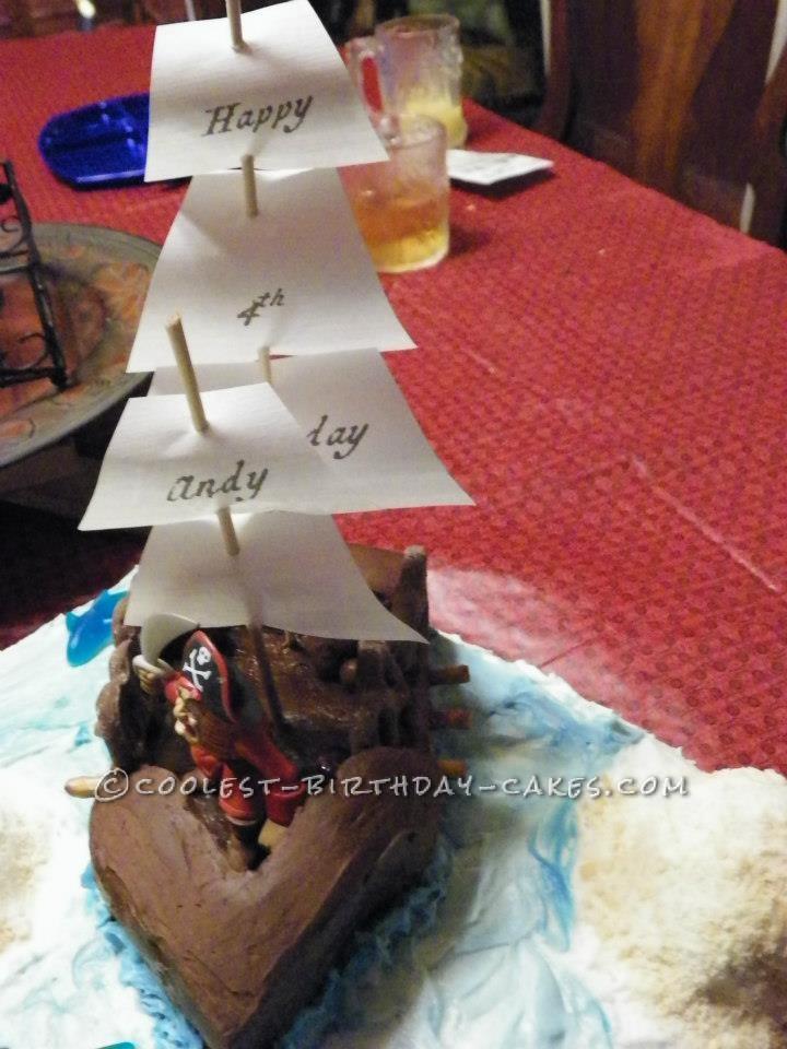 Pirate Birthday Party Pirate Cake