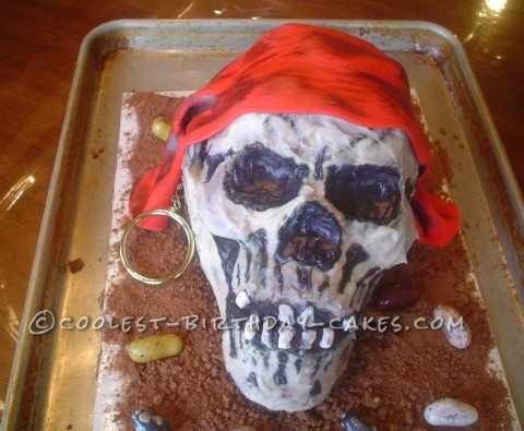 Coolest Pirate Skull Cake