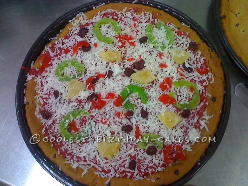 Pizza Cookie Cake