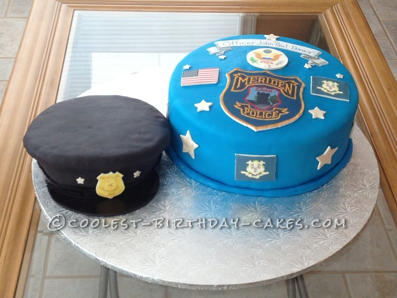 Excellent Coolest Homemade Police Cakes Funny Birthday Cards Online Alyptdamsfinfo