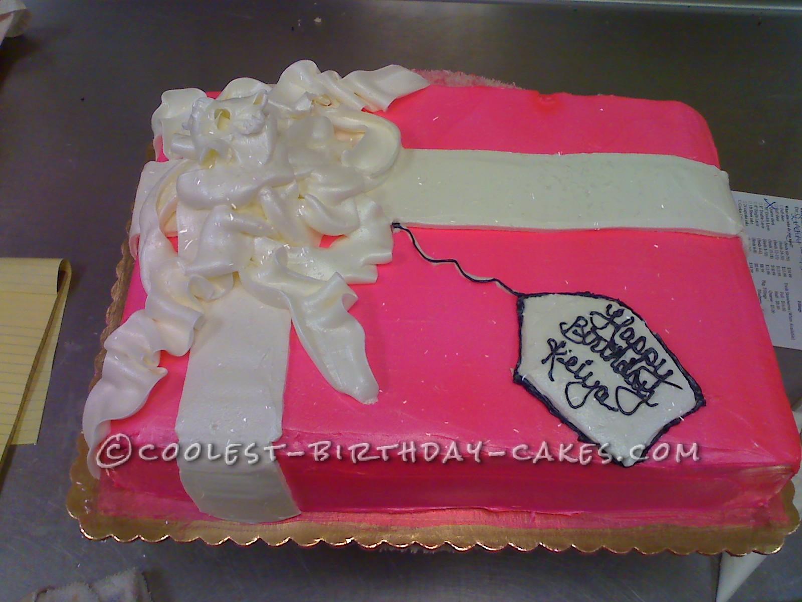 Coolest Present Birthday Cake