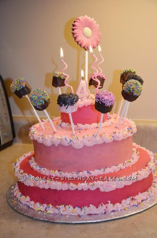 Wondrous Coolest Princess Cake With Marshmallow Pops Funny Birthday Cards Online Aboleapandamsfinfo