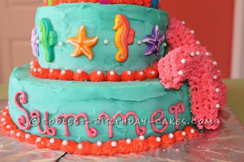 Coolest Seahorses and Starfish Birthday Cake